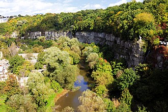 Kamianets-Podilskyi - The canyon at river Smotrych.