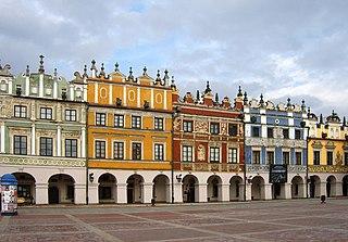 Old City (Zamość) World Heritage site in Poland