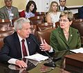 Kaptur testifies with Rep. Walter Jones (R-NC) on the need to reinstate Glass-Steagall (34797664670).jpg