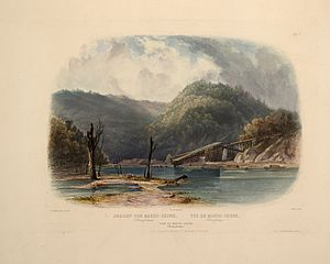 Lehigh Coal & Navigation Company - Image: Karl Bodmer Travels in America (5)
