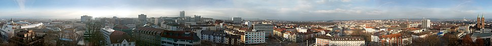 Kassel 360° Panorama view from the Tower of the Lutherkirche.