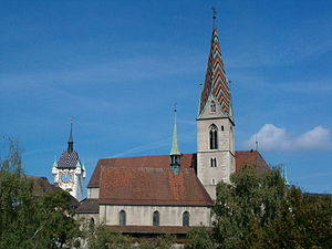 Aargau - Catholic City Church in Baden, Aargau