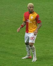 Kazim-Richards playing for Galatasary in Turkey.
