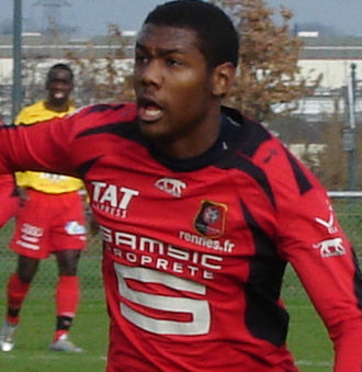 Kévin Théophile-Catherine - Théophile-Catherine playing for Rennes in 2010