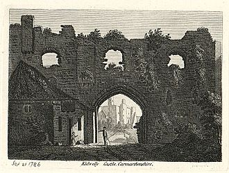 Kidwelly - Town wall, 1786