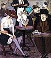 Kikodze. In a Café. 1920.jpg