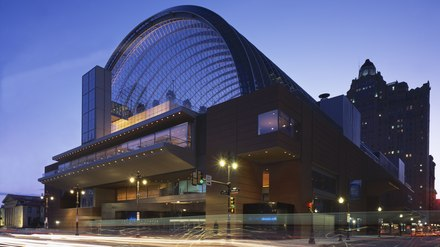 Kimmel Center, home of the Philadelphia Orchestra Kimmel Center cropped.tif