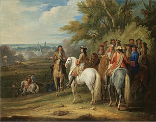 King Louis XIV at the taking of Maastricht, 30 June 1673