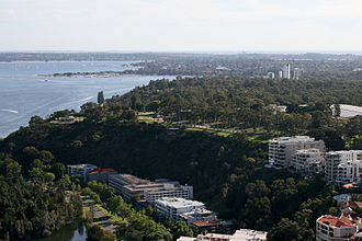 Kings Park, Western Australia - Kings Park viewed from QV.1 in the CBD