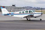 Kitair Pty Ltd (VH-BZS) Beech A36 Bonanza taxiing at Wagga Wagga Airport 1.jpg