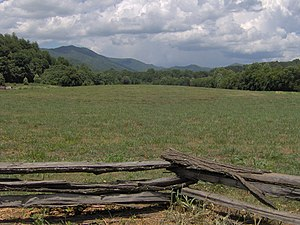 Cherokee history - Kituwa Mound, location of the Cherokee mother town in North Carolina