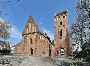 History of Warsaw - 1411 St. Mary's Church in Warsaw New Town.