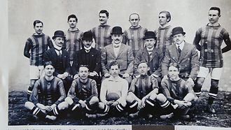 CFR Cluj - Kolozsvári Vasutas Sport Club team in 1911.