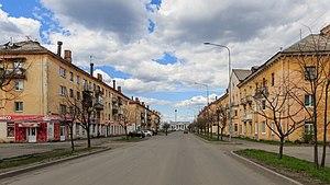 Kondopoga - A street in Kondopoga