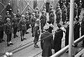 Koningin Wilhelmina inspecteert erewacht, Bestanddeelnr 901-4587.jpg