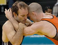 Konstantinos Arkoudeas vs Oscar Wood, Athens 2004.jpg