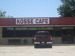 Kosse, Texas - Kosse Cafe is located at the intersection of Texas Highways 7 and 14