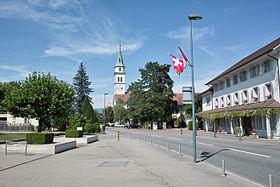 In the center of Kriegstetten