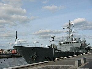 LÉ Róisín (P51) - LÉ Róisín moored at Dublin's docklands, 2008.