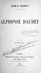 Léon Daudet: Alphonse Daudet