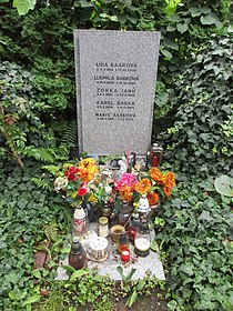 Lída Baarová-hrob, Hřbitov Krematoria Strašnice 03.jpg