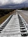 Línea del tren AVE Madrid-Galicia a su paso por Sanabria..jpg