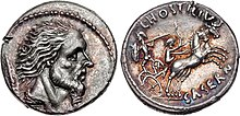 Photograph of two Roman coins