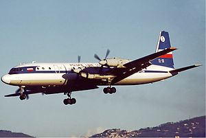 LOT Polish Airlines - A LOT Ilyushin Il-18 landing at Rome Ciampino Airport (1977)