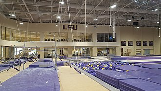 LSU Gymnastics Training Facility - Image: LSU Gymnastics Training Facility (Baton Rouge) Gym Area