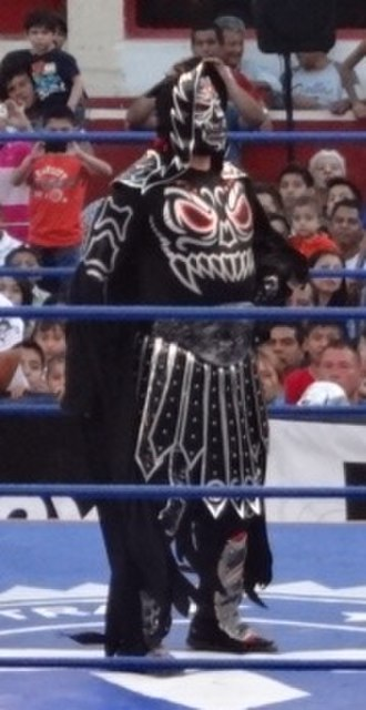 El Zorro (wrestler) - Martínez as La Parka Negra in March 2013.