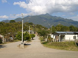 Main entrance with Puca mountain on the back