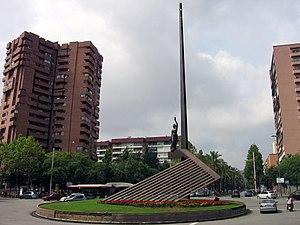 Plaça de la República, Barcelona - Plaça de la República - the Pi i Margall monument