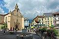 La façade de l'église St-Étienne de Seix (Ariège).jpg