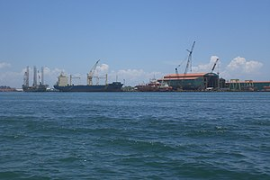Victoria, Labuan - Labuan Port, an important area where economic activities for the island operated.