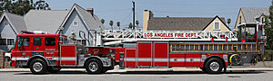English: A Los Angeles Fire Department (LAFD) ...