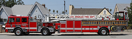 LAFD tractor drawn aerial