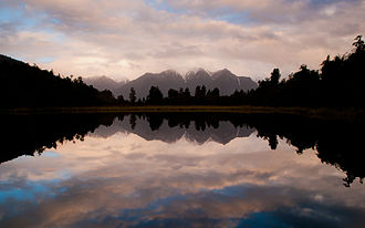 Lake Matheson - Lake Matheson just after the sunset