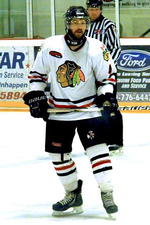 Central Ontario Junior C Hockey League - Lakefield Chiefs player during 2014 Schmalz Cup Final.