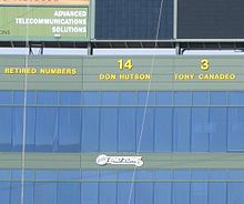 772234e4d Hutson s number 14 displayed at Lambeau Field