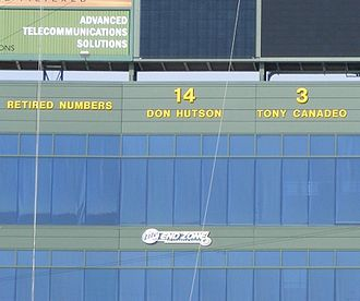 Don Hutson - Hutson's number 14 displayed at Lambeau Field