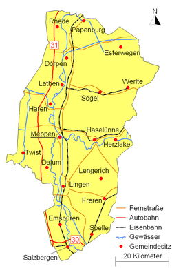 Emsland district traffic plan
