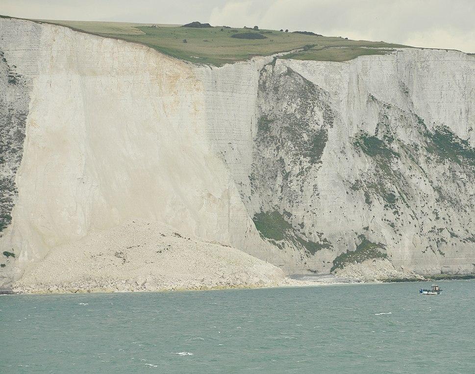 Landslide near Dover Harbour