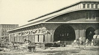 Architecture of Atlanta - The 1853 Union Station shortly before Union troops destroyed it in 1864