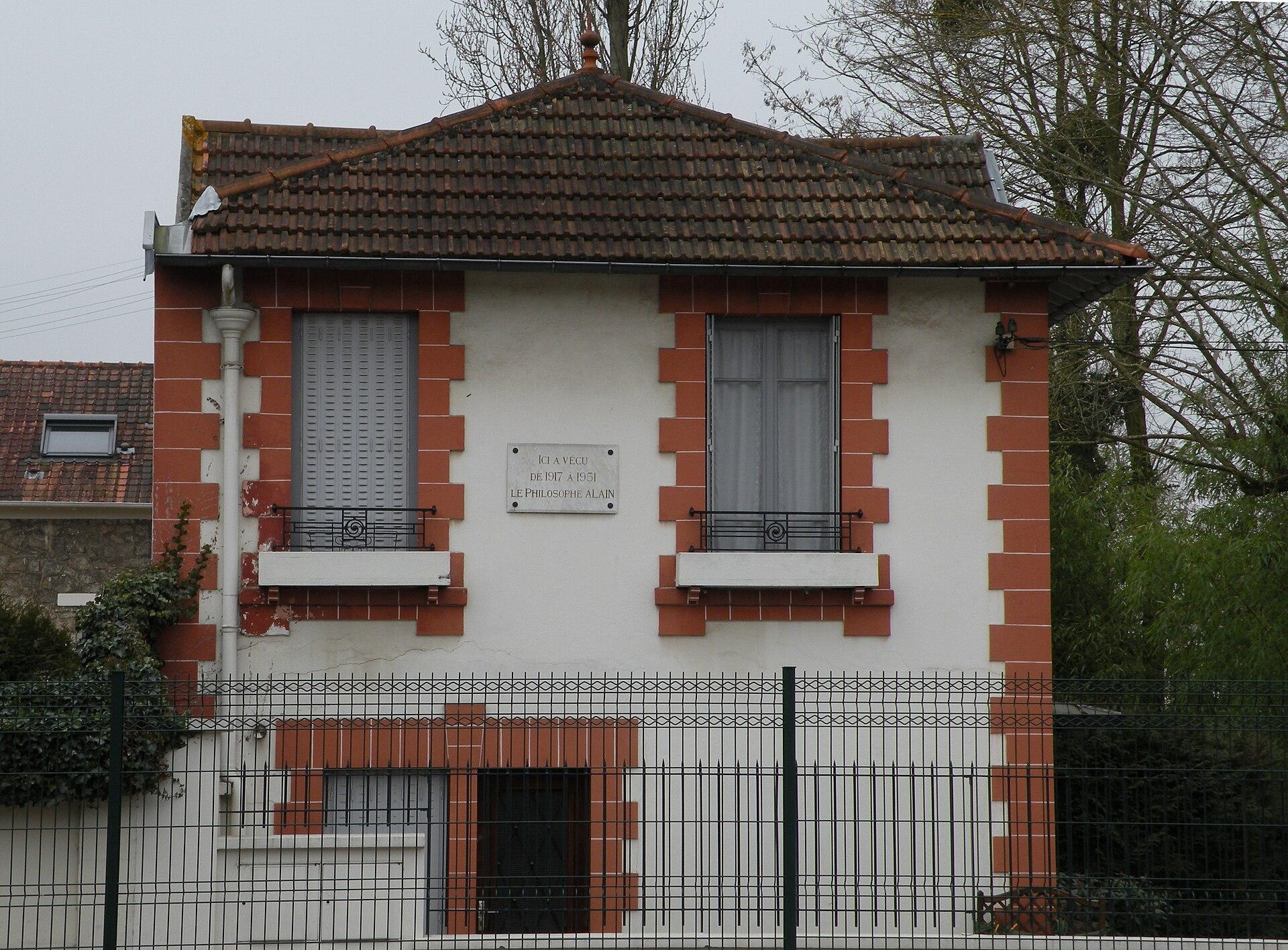 アランが1917年から1951年住んでいた家。Wikipediaより