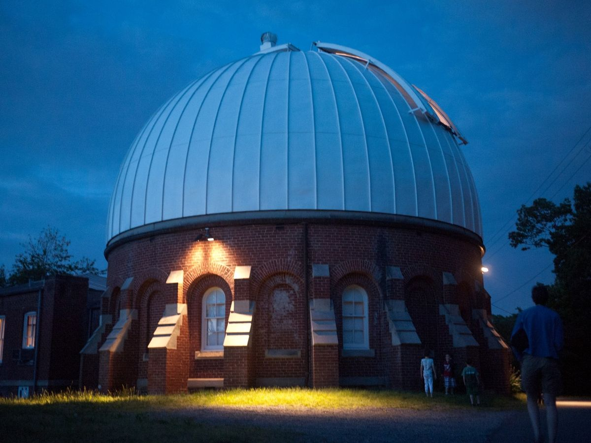 This is outside the Leander Mccormick Observatory