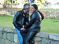 Leather-jacketed Couple in Sao Joao del Rei - Brazil.jpg