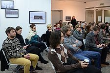 Lecture of Milena Dragicevic Sesic in Minsk 5.02.2015 04.JPG