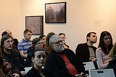 Lecture of Milena Dragicevic Sesic in Minsk 5.02.2015 06.JPG
