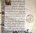 Leonardo bruni, de bello gallico contra gothos, firenze 1459 (bml, pluteo 65.10) 05 stemma laurenziana.jpg