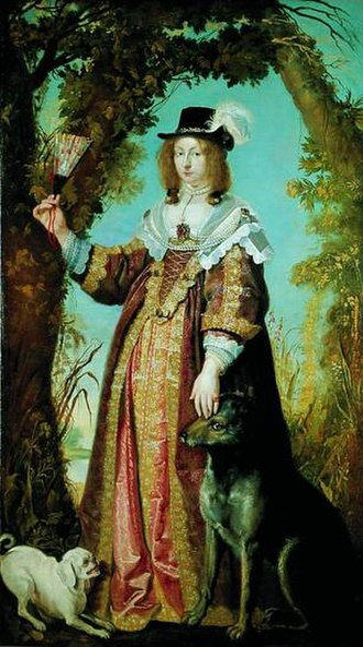 Leonora Christina Ulfeldt - Painting by Karel van Mander; Frederiksborg Museum.